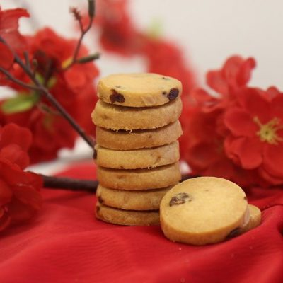 Cranberry & Rose Cookies